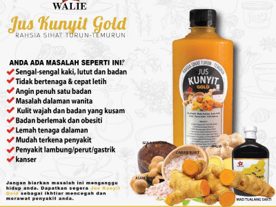 Jus Kunyit Gold – Turmeric concentrate juice