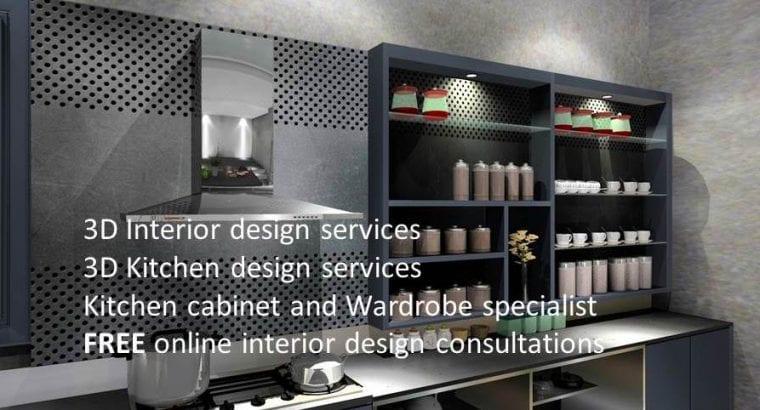 3D Interior/Kitchen Design Services