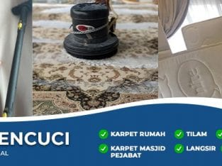 Servis Cuci Karpet Rumah, Pejabat, Masjid, Surau, Hotel.