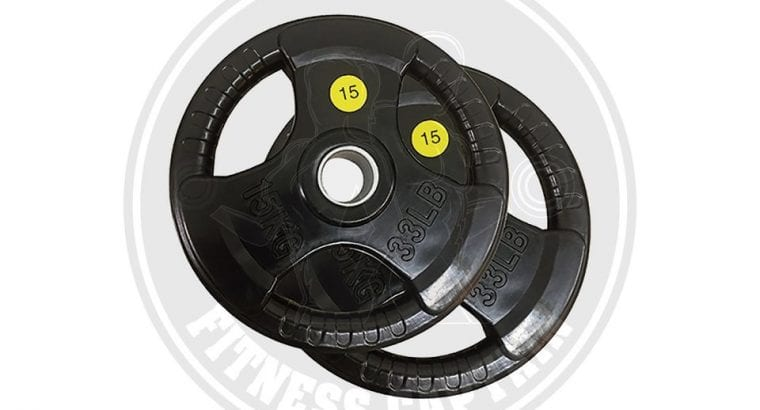 Fitness Gym Olympic Rubber Weight Plate 15 Kg Set of 2