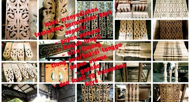 Tempahan ukiran dan larik kayu