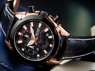 Chronograph megir infinity executive watch