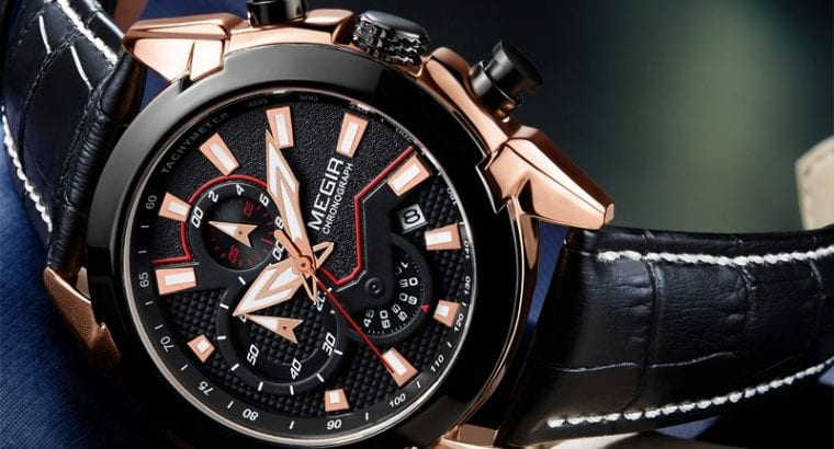 Chronograph megir infinity executive watch