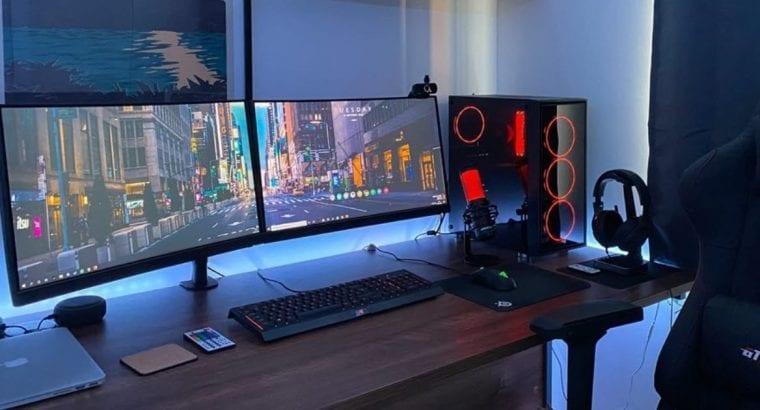 1set pc dual monitor