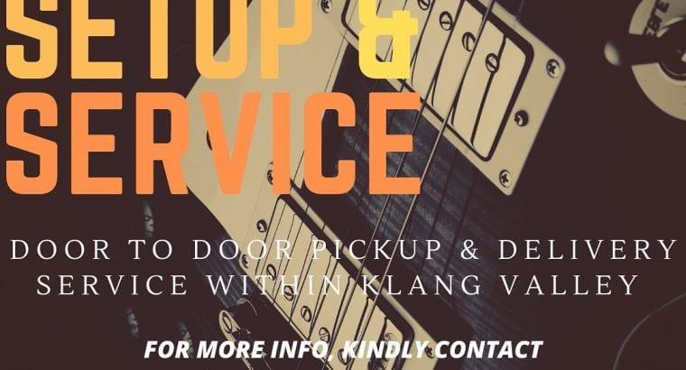 Guitar setup and service Door to Door Pickup