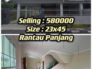 Double storey corner at Rantau Panjang Jaya