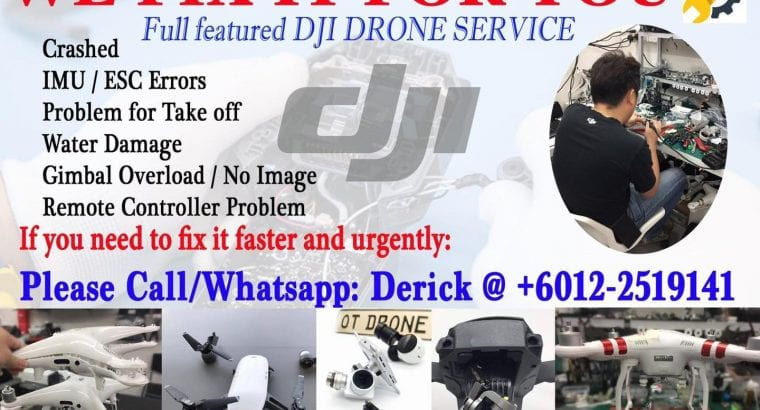 Specialize in Retail, Service and Repair for DJI drones and products in Malaysia
