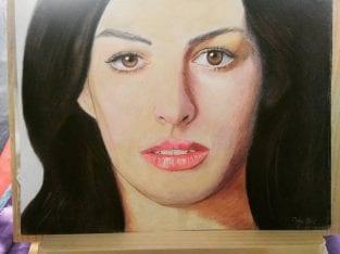 Tempahan lukisan potret wajah murah