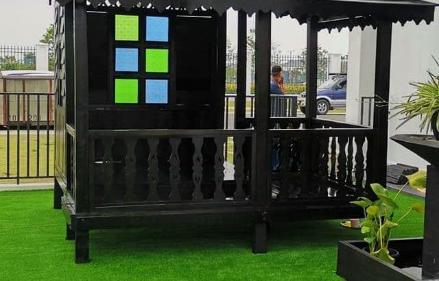Gazebo Playground 7×8 kaki