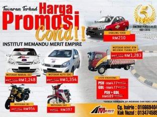PROMOSI lesen memandu COVID DATANG LAGI!!!!!!!