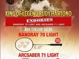 Rudy Hartono Endorses