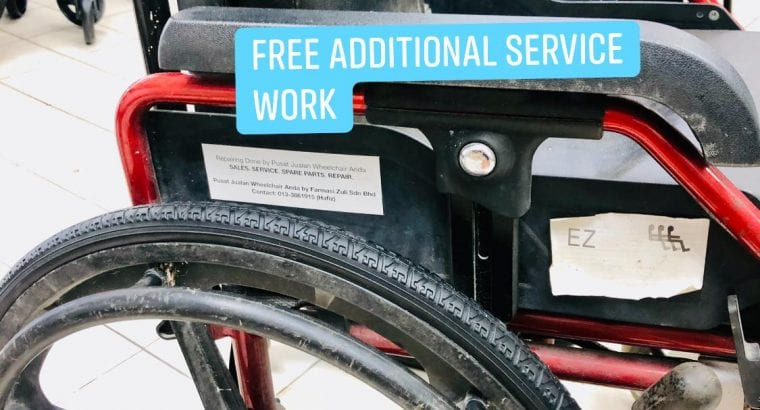 Repair tayar wheelchair