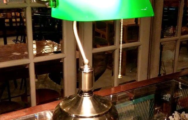 Retro Banker's Lamp