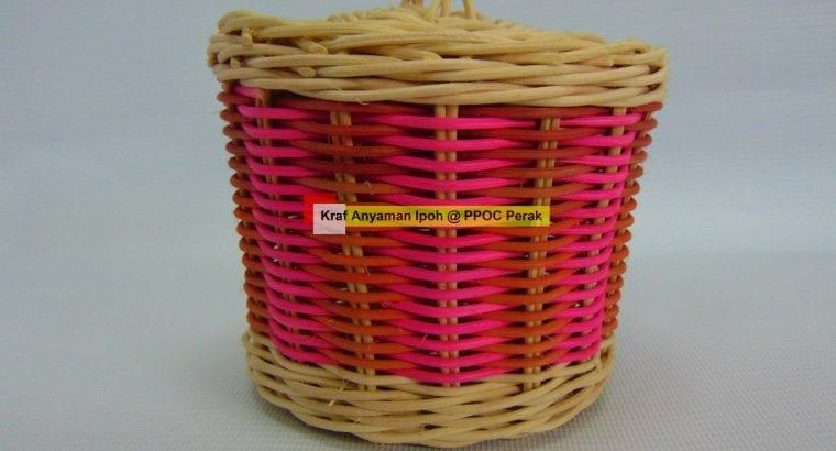 Bakul Rotan Mini Pail Warna (Mini) Plain/Warna