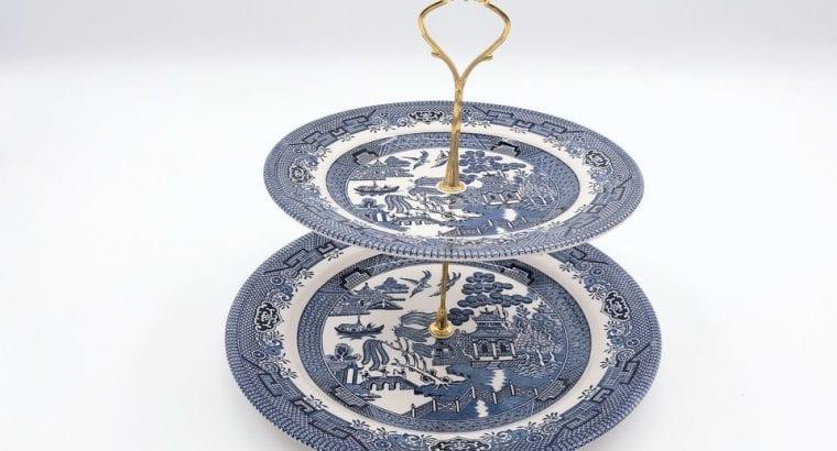 Ceramic 2 Layer Dessert Tray