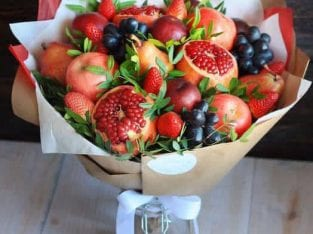 Fresh Fruits Bouquet🍎Free Delivery