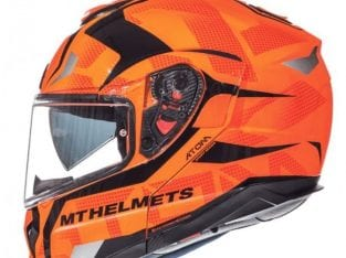 MT Atom SV Divergence G1 Gloss Fluor Orange Helmet