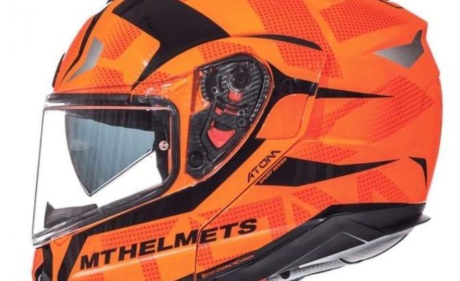 MT Atom SV Divergence G1 Gloss Fluor Orange Helmet