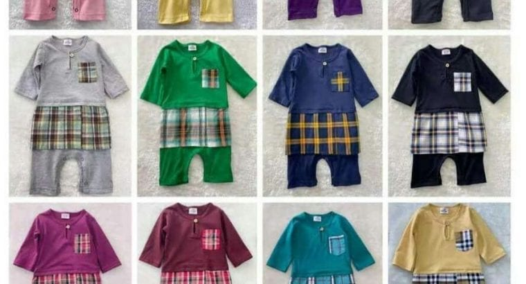 Jumper Baju Melayu Beserta Sampin ( saiz 3-12bulan )
