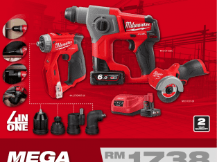 MILWAUKEE M12 FUEL Mega Combo