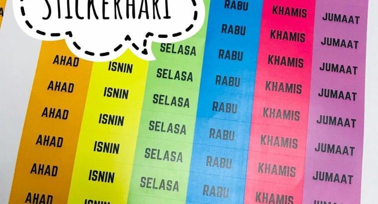 Sticker Nama Buku Sekolah