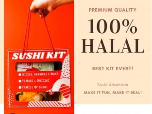 HALAL SUSHI MAKING KIT- NIGIRI, URAMAKI & MAKI SET