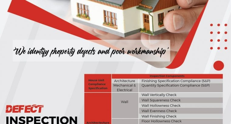 PROPERTY DEFECT INSPECTION SERVICE