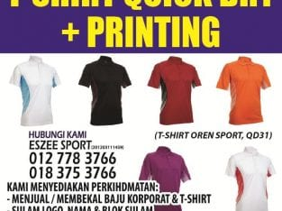 Perkhidmatan sulam dan cetak (printing) baju