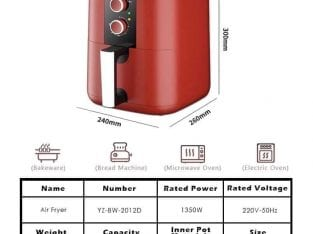 Air Fryer Merah 5.0L
