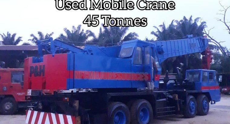 USED MOBILE CRANE 45 TONNES